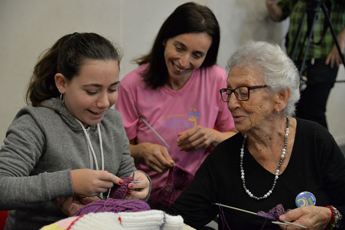 Meeting our Knitters